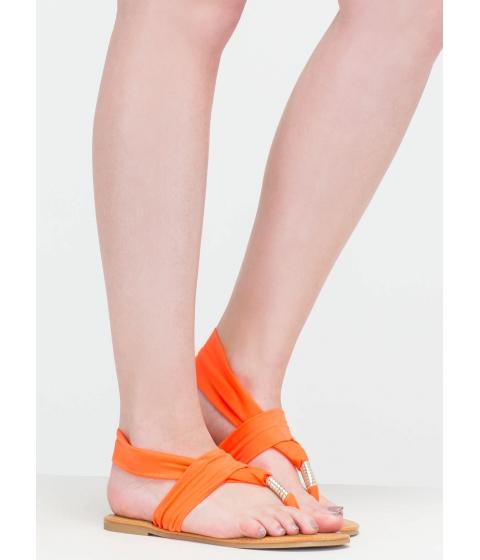 Incaltaminte Femei CheapChic Strappy To Help Sandals Neonorange