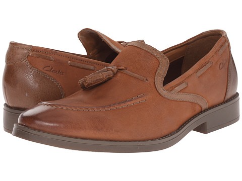 Incaltaminte Barbati Clarks Garren Style Tan Leather