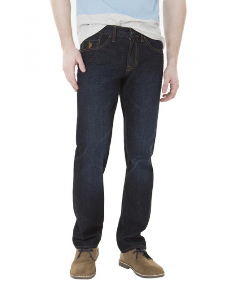 Imbracaminte Barbati US Polo Assn Slim Straight Fit Jeans Blue