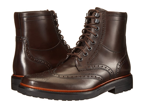 Incaltaminte Barbati COACH Bryant Wingboot Mahogany Leather