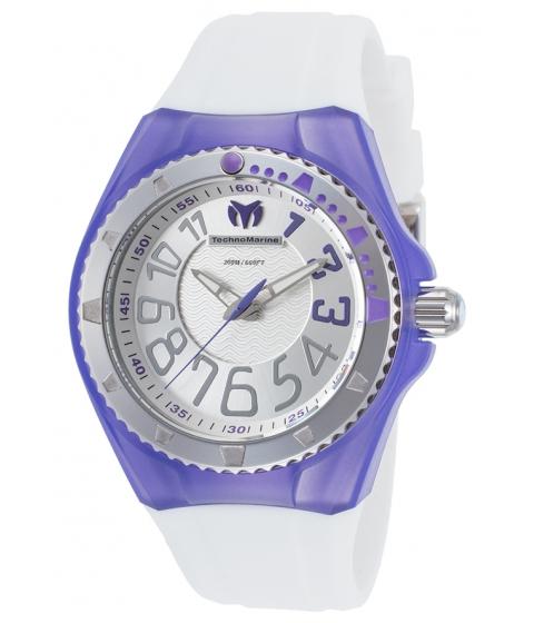 Ceasuri Femei Technomarine Cruise Original White Silicone Silver-Tone Dial Purple Acc - TECHNO-TM-115223 Silver-ToneWhite