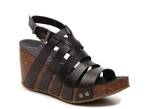 Incaltaminte Femei Blowfish Herz Wedge Sandal Black