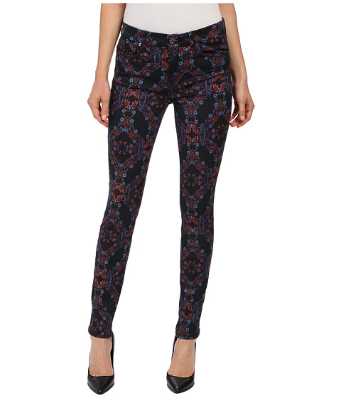 Imbracaminte Femei 7 For All Mankind The Mid Rise Skinny w Contour Waistband in Radiant Stained Glass Radiant Stained Glass