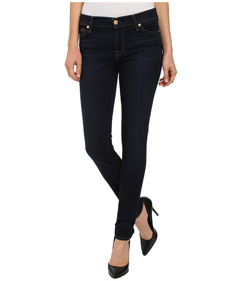 Imbracaminte Femei 7 For All Mankind The Skinny w Squiggle in Dark Dusk Indigo Dark Dusk Indigo