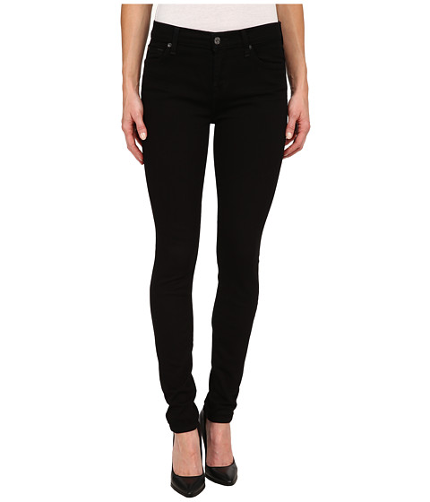 Imbracaminte Femei 7 For All Mankind The Skinny w Squiggle in Washed Overdye Black Washed Overdye Black