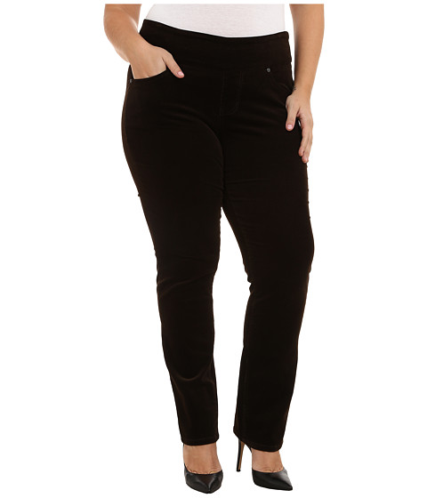Imbracaminte Femei Jag Jeans Plus Size Peri Pull On Straight Jeans in Dark Chocolate Dark Chocolate