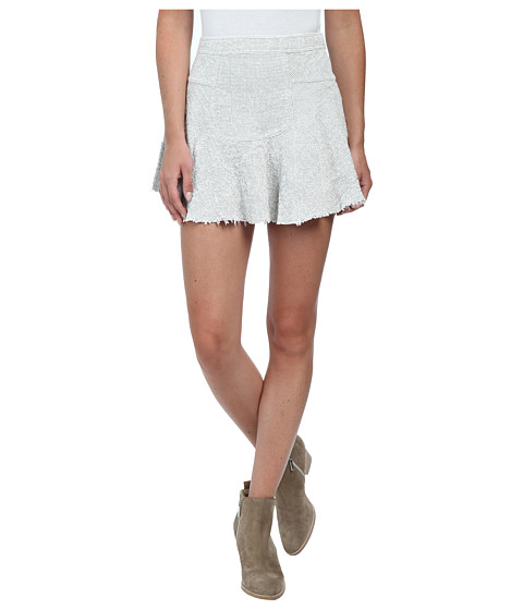 Imbracaminte Femei Free People Cotton Texture Sunshine Smile Skirt IvoryBlack Combo