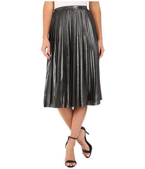 Imbracaminte Femei Ted Baker Zainea Metallic Pleated Midi Skirt Charcoal