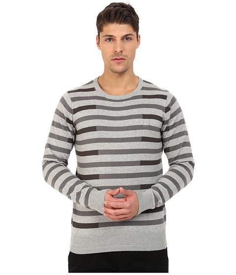 Imbracaminte Barbati Bench Stagger Crew Neck Knit Grey Marl