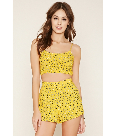 Imbracaminte Femei Forever21 Ditsy Floral Print Cropped Cami Yellownavy