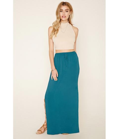 Imbracaminte Femei Forever21 M-Slit Maxi Skirt Teal