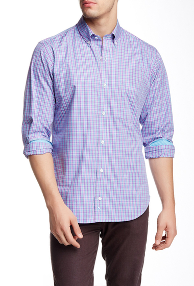Imbracaminte Barbati TailorByrd Long Sleeve Regular Fit Woven Shirt PURPLE