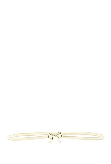 Accesorii Femei Betsey Johnson Bow Cobra Chain Stretch Belt GOLD
