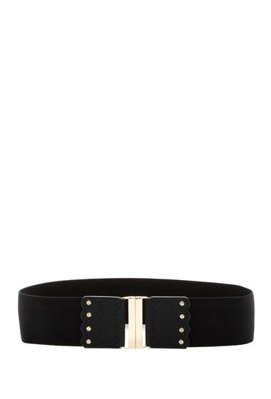 Accesorii Femei Betsey Johnson Interlock Stretch Belt BLK-CLEAR