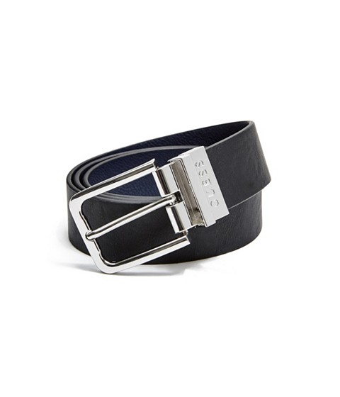 Accesorii Barbati GUESS Reversible Faux-Leather Belt blackblue multi