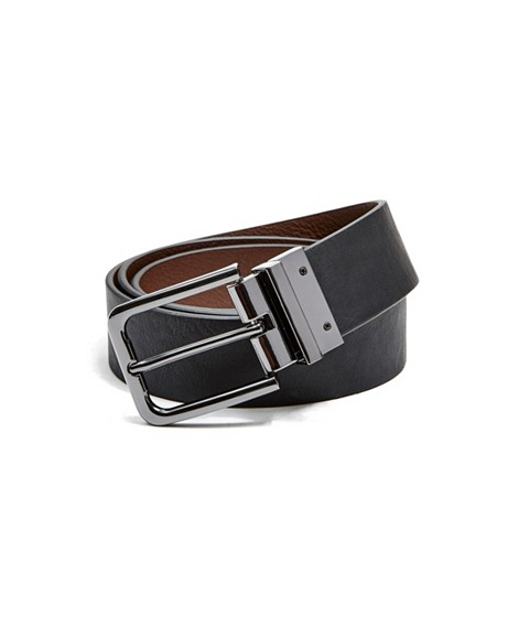 Accesorii Barbati GUESS Reversible Faux-Leather Belt brownblack