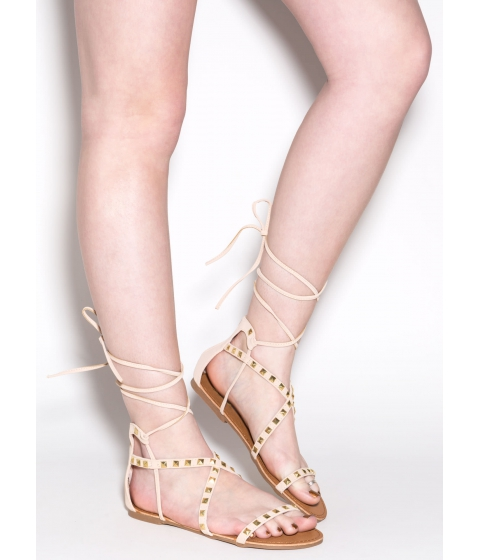 Incaltaminte Femei CheapChic Real Love Studded Sandals Nude