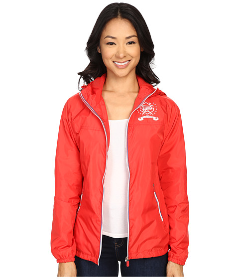 Imbracaminte Femei US Polo Assn Hooded Windbreaker Jacket Tomato Red