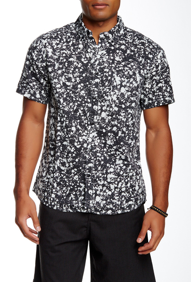 Imbracaminte Barbati Quiksilver Splat Short Sleeve Modern Fit Shirt WBK6-SPLAT SNOW WHIT