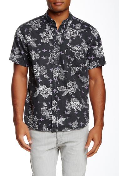 Imbracaminte Barbati Quiksilver Dark Garden Short Sleeve Modern Fit Shirt KVJ6-DARK GARDEN BLA