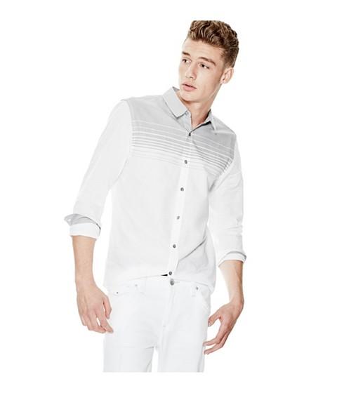 Imbracaminte Barbati GUESS Hales Long-Sleeve Poplin Shirt true white