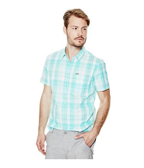 Imbracaminte Barbati GUESS Hearth Short-Sleeve Plaid Shirt rinse wlemon
