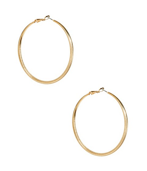Bijuterii Femei GUESS Gold-Tone Large Textured Hoops gold