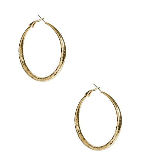 Bijuterii Femei GUESS Gold-Tone Medium Textured Hoops gold