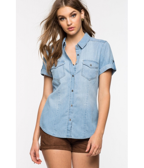Imbracaminte Femei CheapChic Walk In The Park Denim Shirt Med Wash Denim