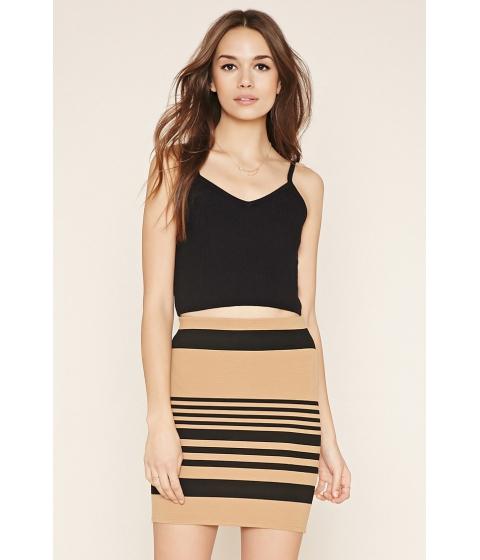 Imbracaminte Femei Forever21 Contemporary Striped Skirt Camelblack