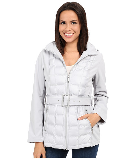 Imbracaminte Femei Kenneth Cole New York Quilted Softshell Jacket Stone