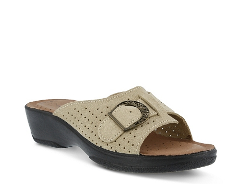 Incaltaminte Femei Flexus by Spring Step Edella Wedge Sandal Beige