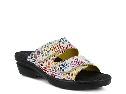 Incaltaminte Femei Flexus by Spring Step Kina Wedge Sandal White Multi