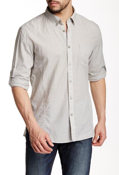 Imbracaminte Barbati Star USA By John Varvatos Long Sleeve Striped Slim Fit Shirt OLIVE BRAN
