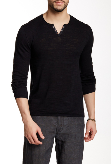 Imbracaminte Barbati Star USA By John Varvatos Long Sleeve Sweater BLACK