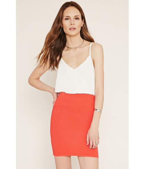 Imbracaminte Femei Forever21 Contemporary Ribbed Mini Skirt Tomato