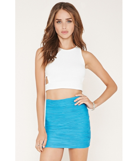 Imbracaminte Femei Forever21 Textured Knit Mini Skirt Turquoise