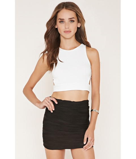 Imbracaminte Femei Forever21 Textured Knit Mini Skirt Black