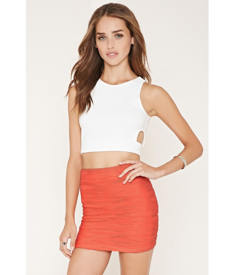 Imbracaminte Femei Forever21 Textured Knit Mini Skirt Coral