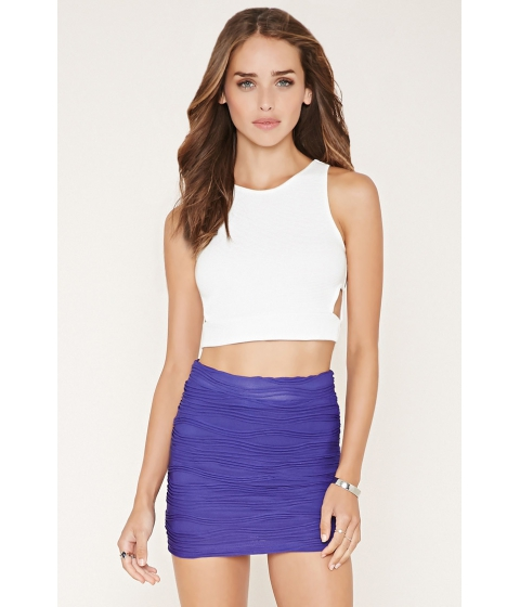Imbracaminte Femei Forever21 Textured Knit Mini Skirt Purple