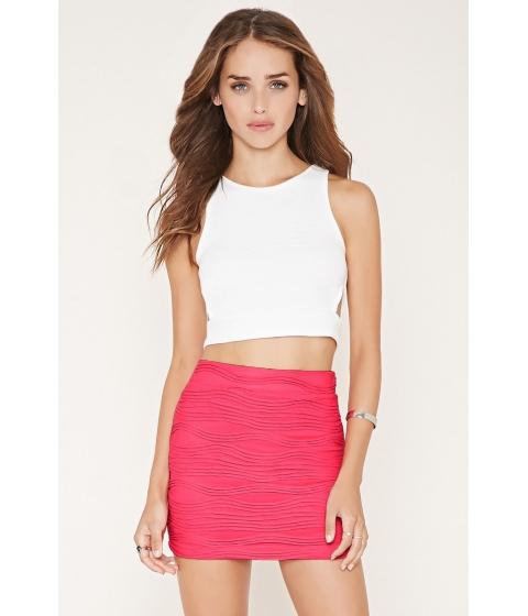 Imbracaminte Femei Forever21 Textured Knit Mini Skirt Hot pink
