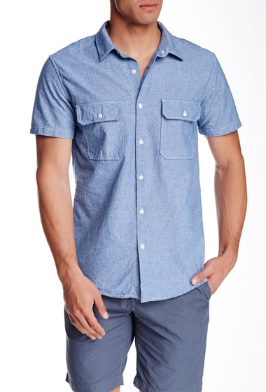 Imbracaminte Barbati SAVE KHAKI Chambray Camp Shirt LIGHT BLUE