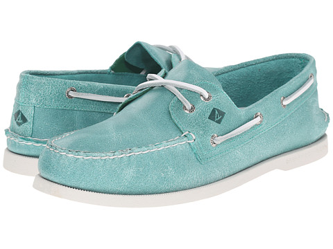 Incaltaminte Barbati Sperry Top-Sider AO 2-Eye White Cap Turquoise