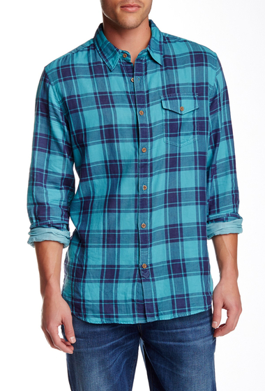 Imbracaminte Barbati Lucky Brand Plaid Long Sleeve Regular Fit Shirt TEAL-BLUE
