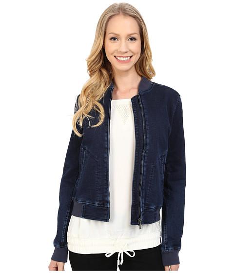Imbracaminte Femei Calvin Klein Knit Indigo Bomber Jacket Jitney Blue