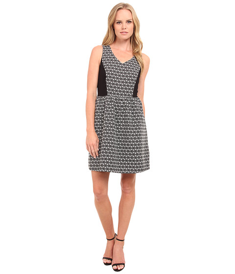 Imbracaminte Femei kensie Soft Brocade Dress KS9K7700 Ivory Multi
