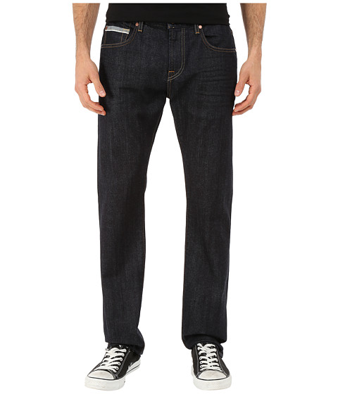 Imbracaminte Barbati 7 For All Mankind Straight w Split Seam Pocket - Stretch Selvedge in Dark Indigo Dark Indigo