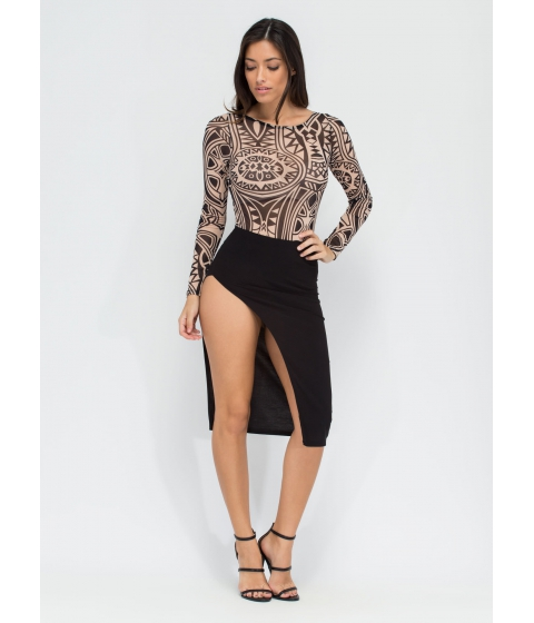 Imbracaminte Femei CheapChic Smooth Criminal Slit Skirt Black