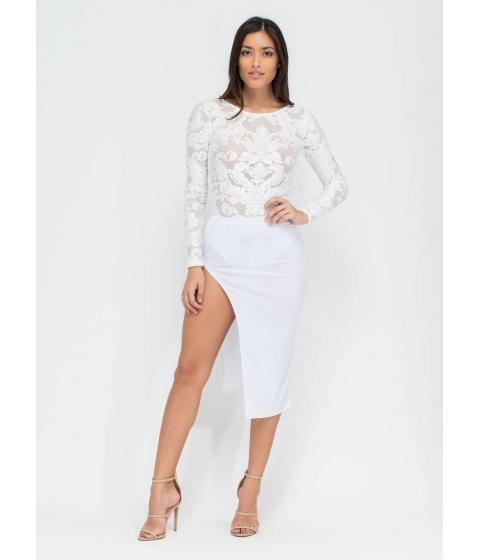 Imbracaminte Femei CheapChic Smooth Criminal Slit Skirt White