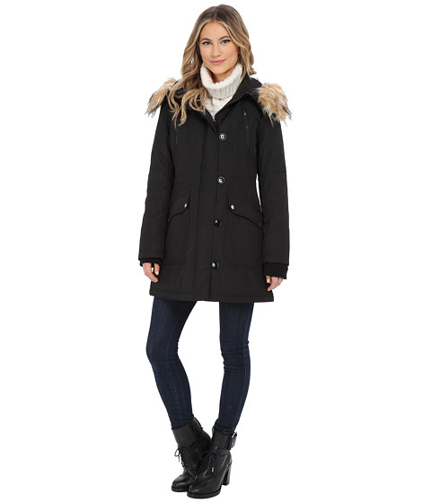 Imbracaminte Femei Jessica Simpson Polybonded with Faux Fur Black